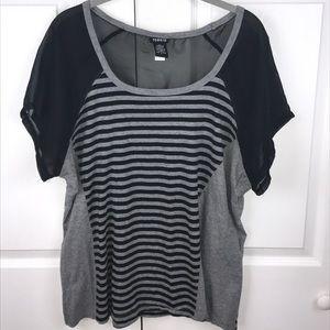 [Torrid] Stripe Sheer Top